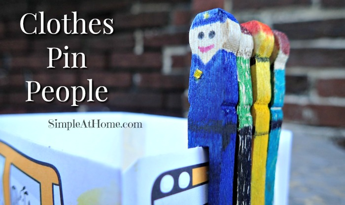 clothes pin people, clothespin people