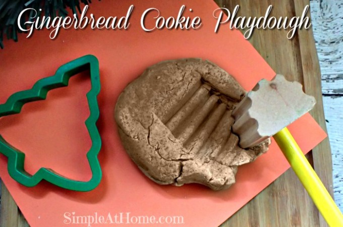 Simple Gingerbread Cookie Playdough