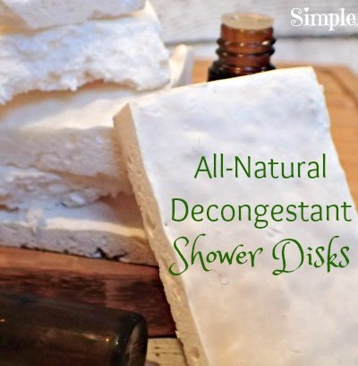 This all natural version of vicks shower disks are great. Peppermint Eucalyptus All-Natural Decongestant Shower Disks wil make you feel better this flu season.