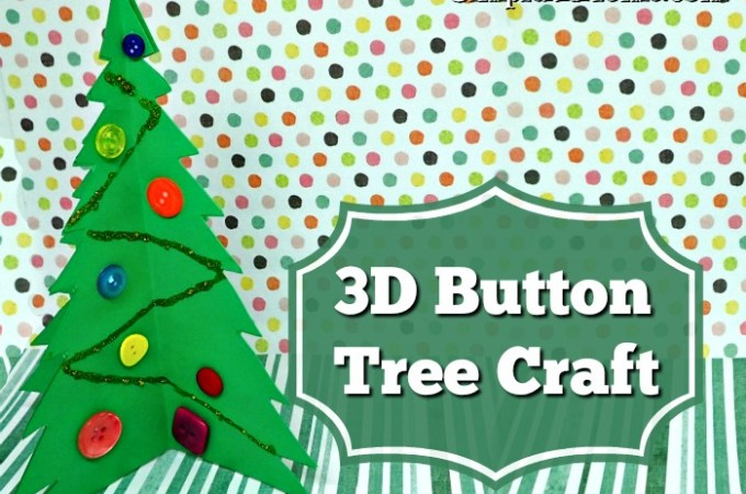 3D Button Christmas Tree Craft