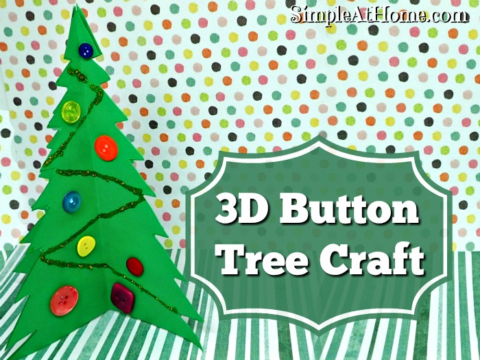 3D button tree craft