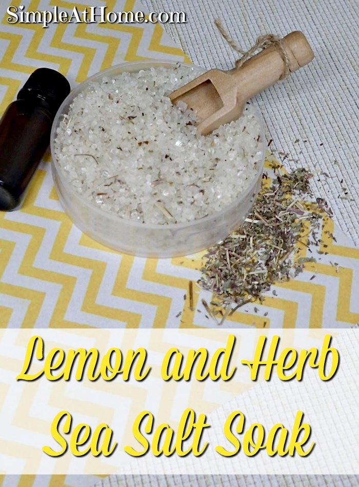 Lemon and Herb Sea Salt Soak