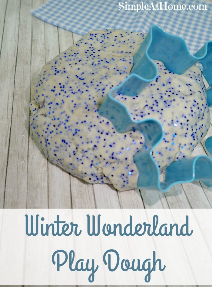 Make this winter wonderland play dough for your Frozen fan.