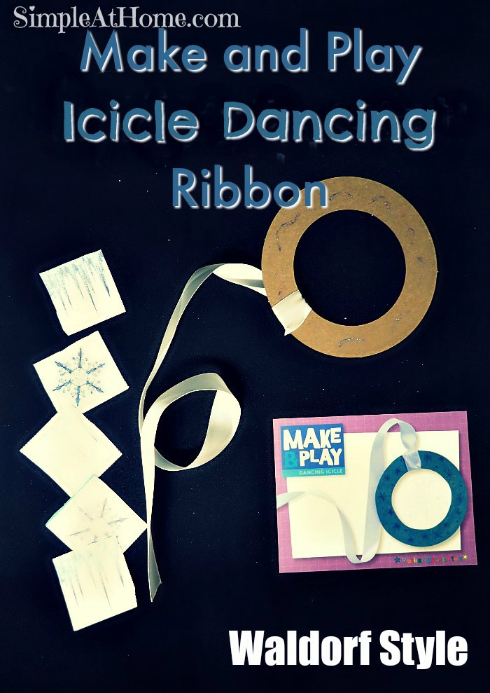 Make and place icicle dancing ribbon