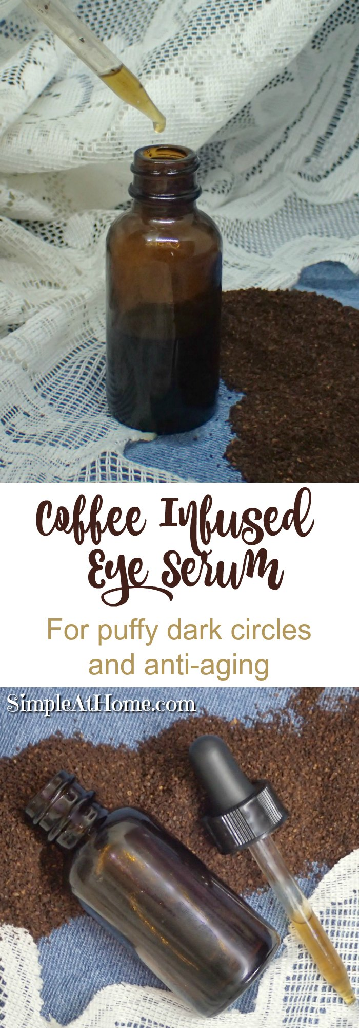 Give this DIY Coffee Infused Eye Serum a trey to eliminate dark circles, and puffiness. With Argon oil for anti ageing, anti wrinkle