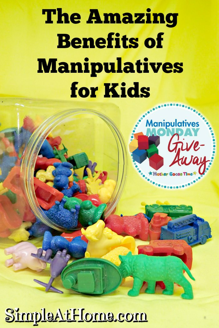 Find The Amazing Benefits of Manipulatives for Kids and win two sets!