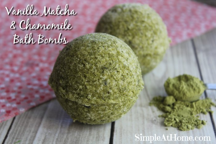 relax with these amazing Matcha Bath Bombs with Vanilla & Chamomile