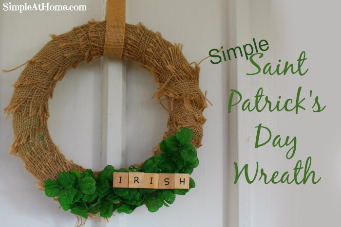 Saint Patrick's Day Wreath diy, craft, home decore, st patties day, st patricks day