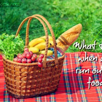 What to do if you fun out of food