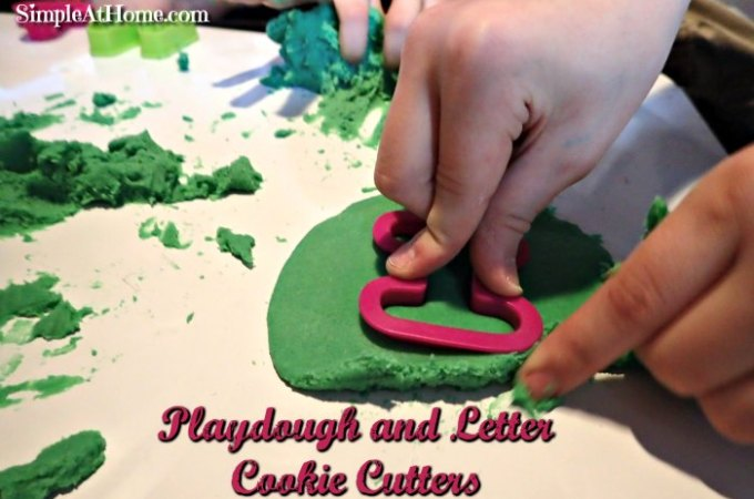 Sensory Station: Playdough and Letter Cookie Cutters