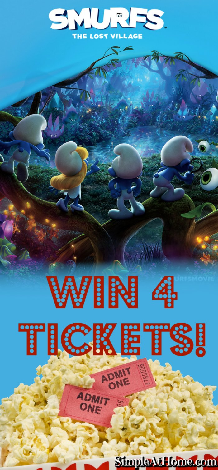 Check out the movie, find some fun stuff for the kids, and WIN 4 Tickets to the #SmurfMovie Smurfs The Lost Village