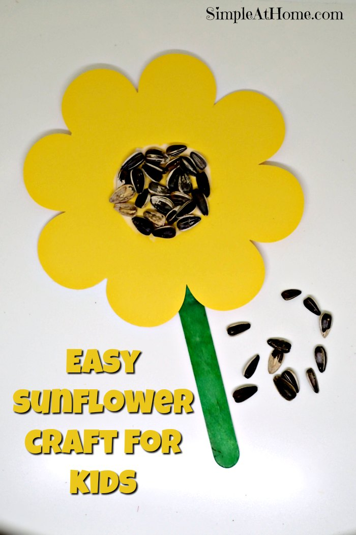 this easy sunflower craft is perfect for young kids