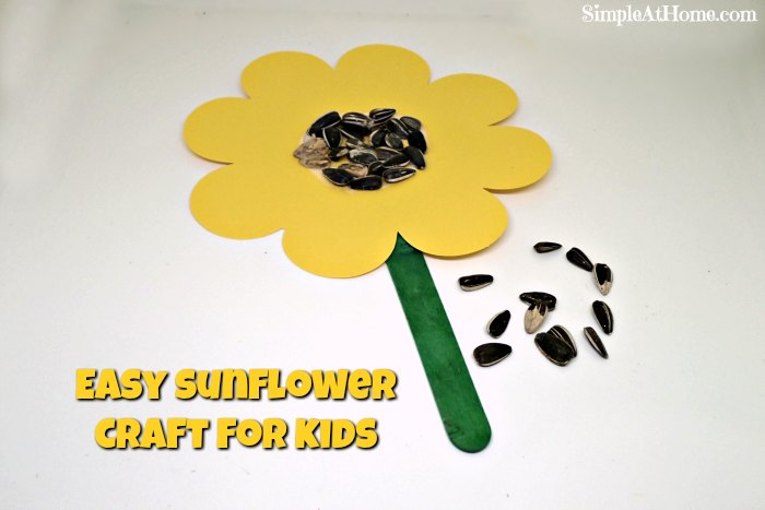 Sunflower kid craft