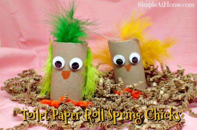 Toilet Paper Roll Spring Chicks