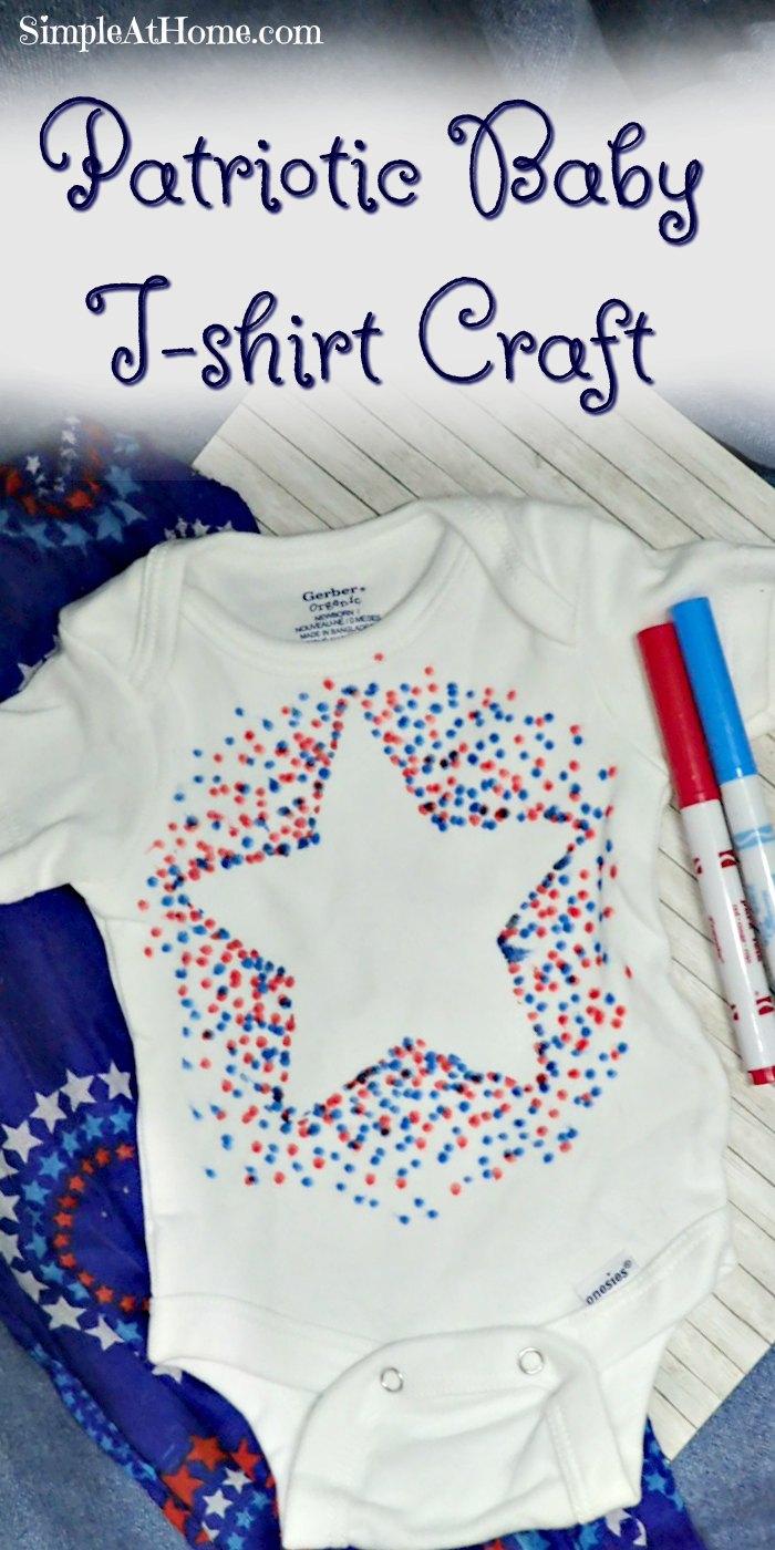 Patriotic Baby T-shirt Craft