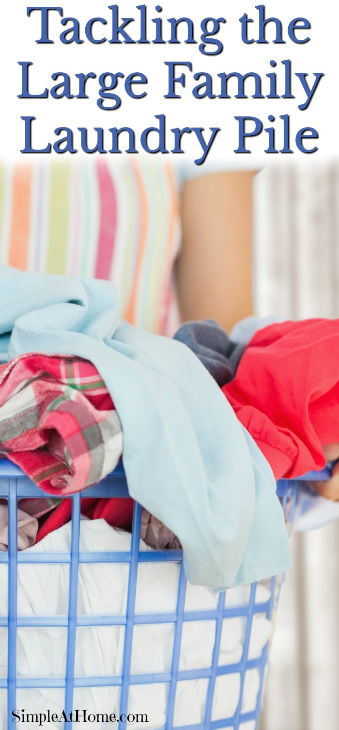 Tips for taming the large family laundry pile