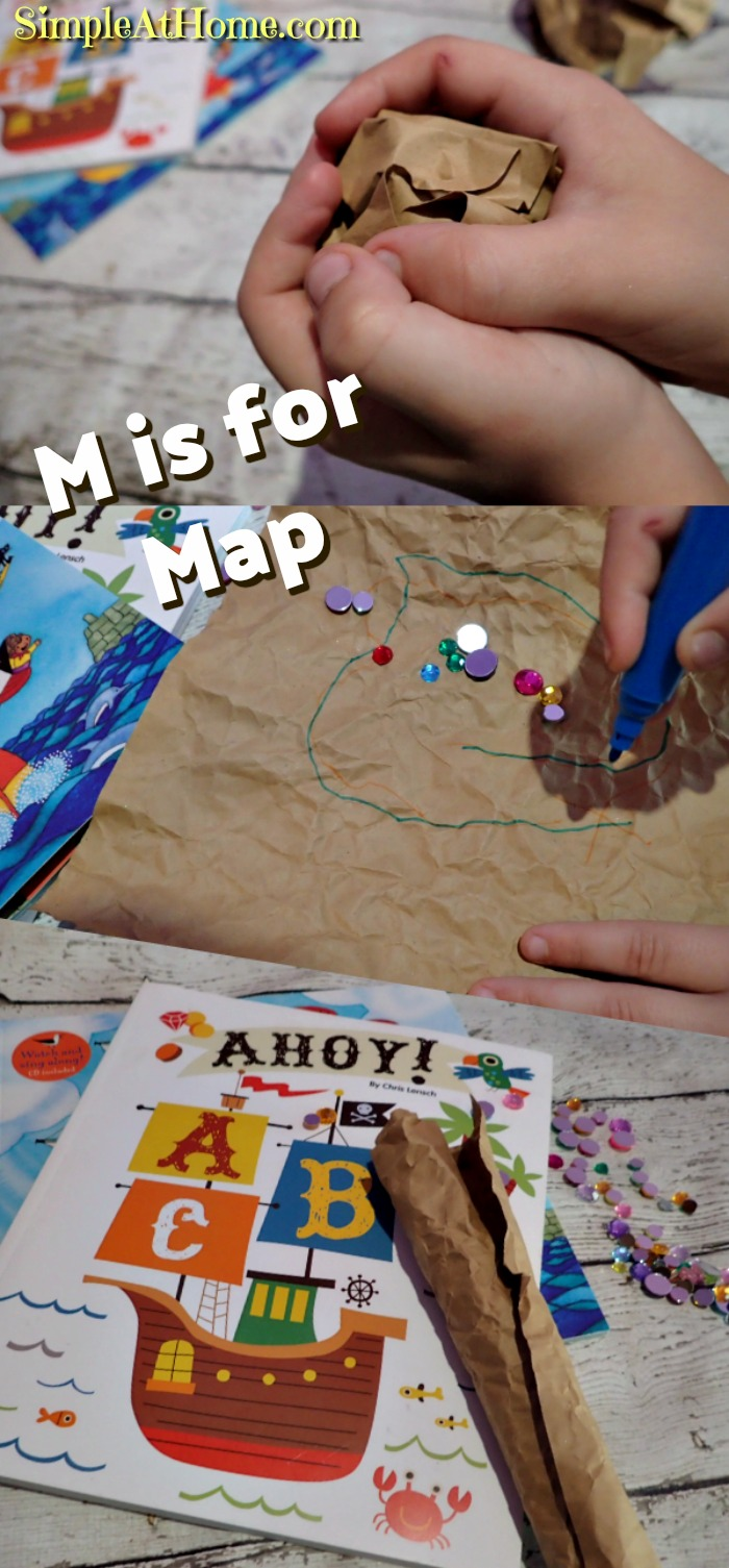 Pirate Treasure Hunt - M is for Map - Literacy and Play