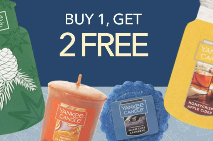 HOT Coupon! Buy 1 Get 2 Free Yankee Candle Coupon