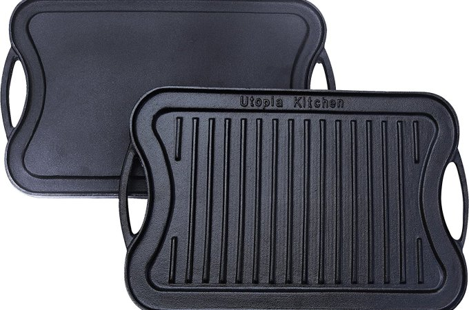 Reversible Cast Iron Grill Griddle $18