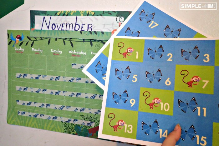 Mother Goose Time Monthly Calender