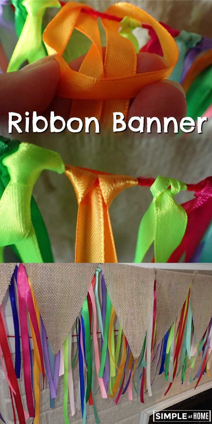 Simple and fun ribbon banner