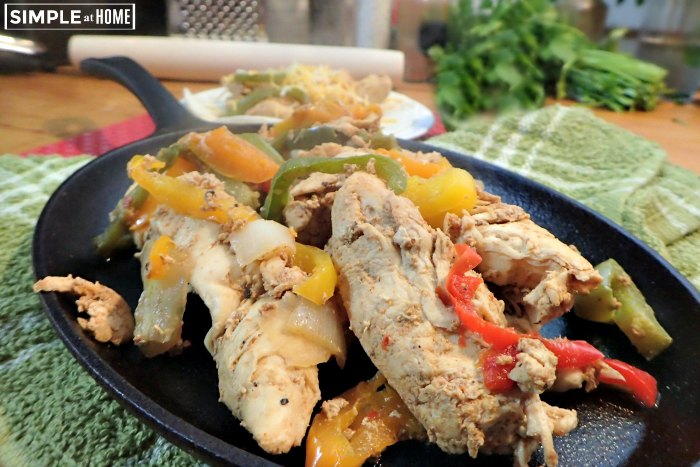 Cast iron skillet chicken fajitas
