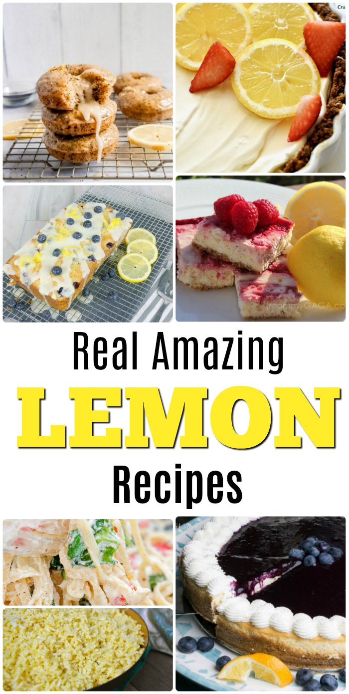 Recipes using real lemons and how to zest a lemon.