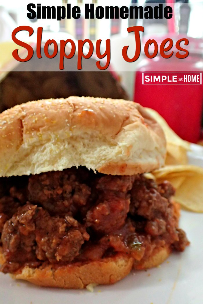 This sloppy joe recipe is so easy you will never go back to a can