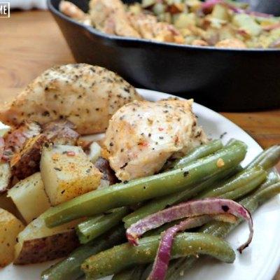 simple chicken skillet dinner