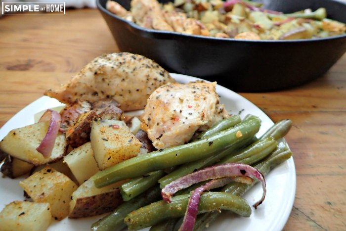 simple chicken skillet dinner
