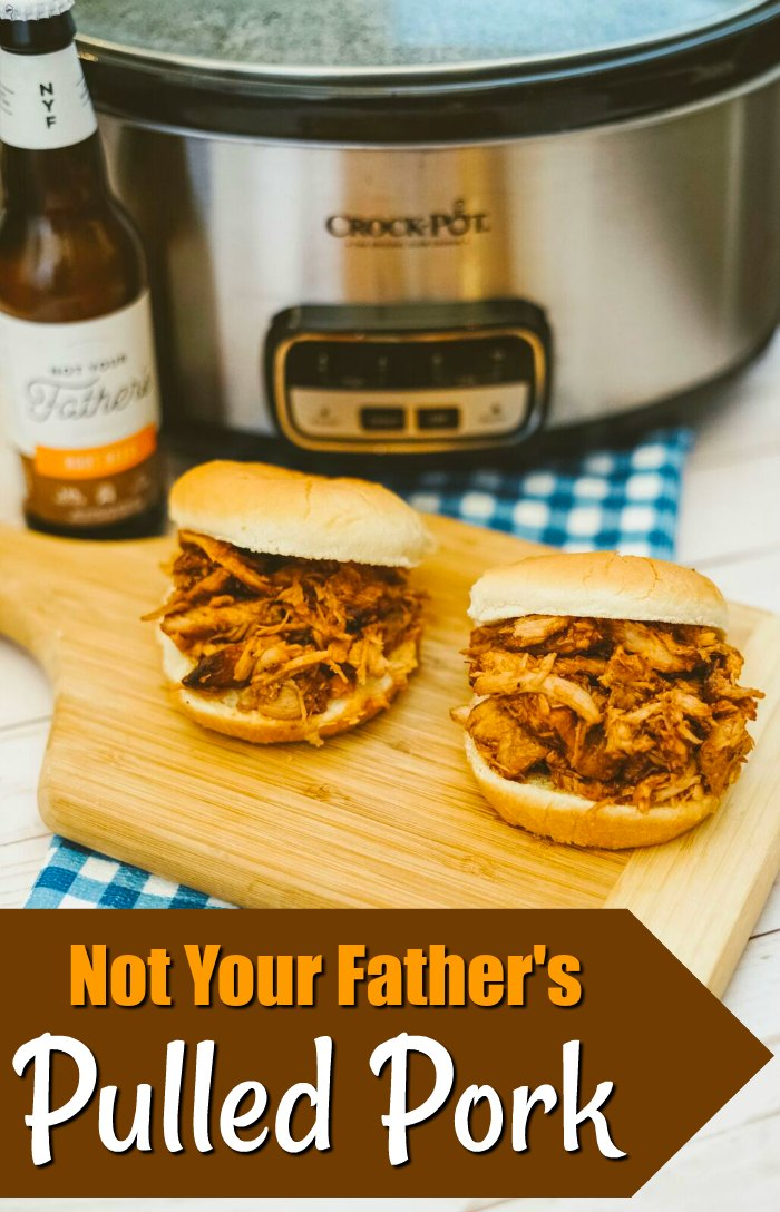 Crock pot not your fathers root beer pulled pork