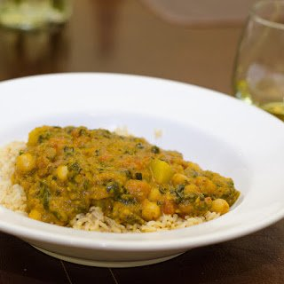 Spinach, Potato and Chickpea Curry