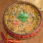 Red Lentil and Quinoa Soup and a Bowl