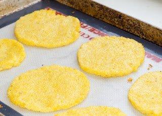 Baked Mini Polenta Pizza Crusts