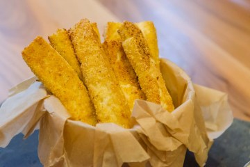 Crispy Baked Tofu Fries with Cornmeal Crust