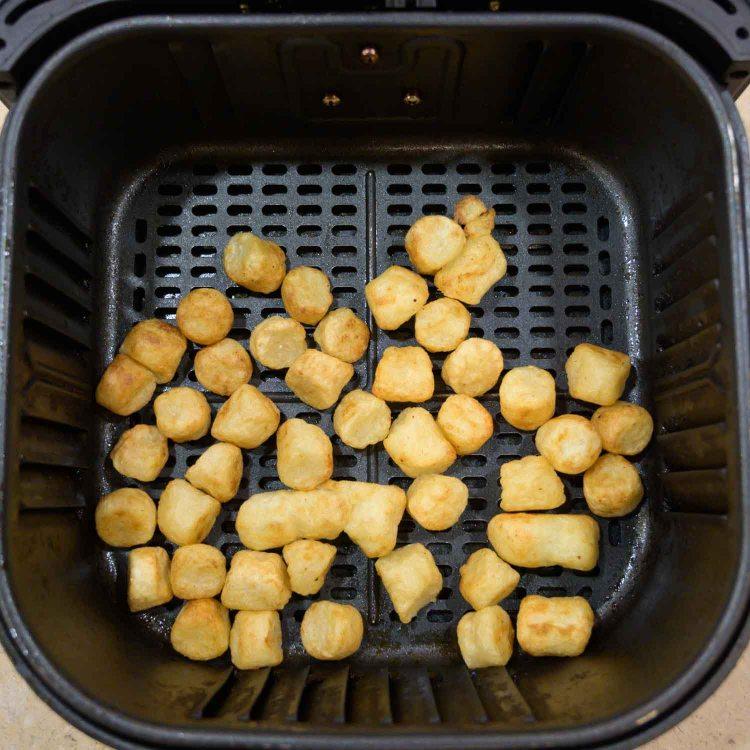 Trader Joe's Cauliflower Gnocchi after being air fried