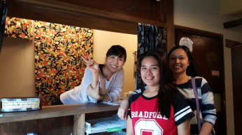 with our friendly receptionist
