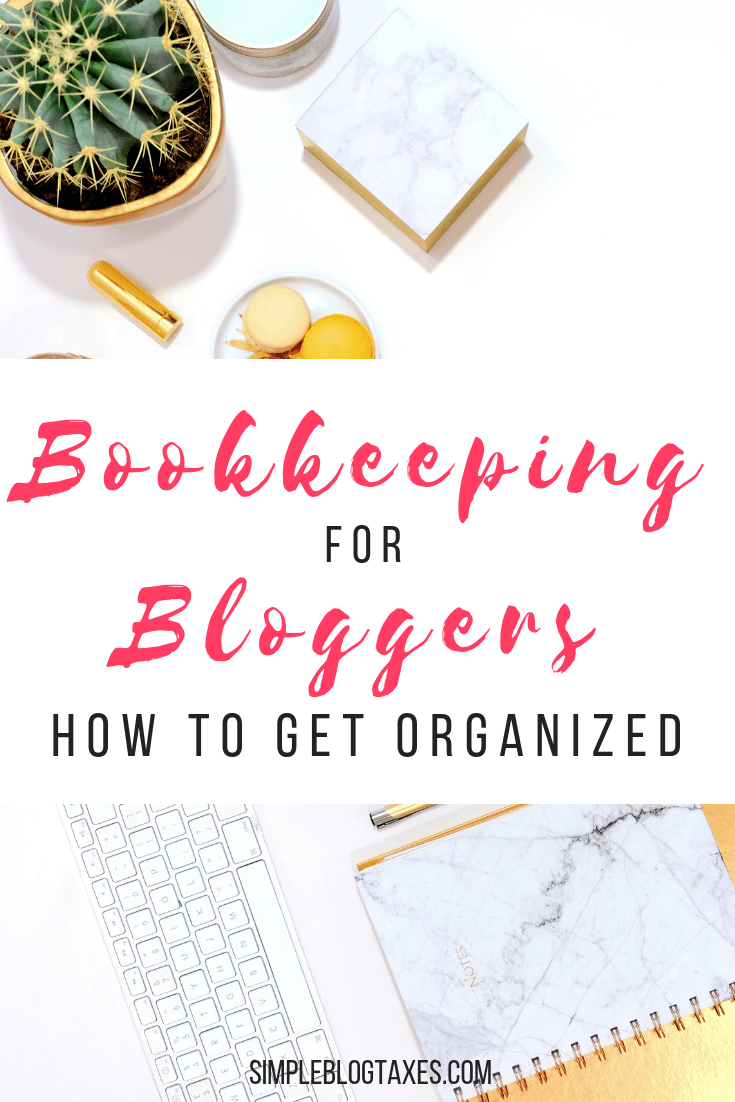 Bookkeeping for Bloggers: How to get your information organized. Confused on what to save for tax time as a new blogger? Here is everything you need to know and the easiest way to organize it. #blogorganization #blogtaxes #blogfinancials #smallbusiness #bookkeeping #bookkeepingorganization SimpleBlogTaxes.com