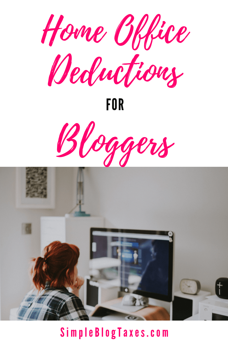 Home office deduction for bloggers. What it is, how to qualify, and how to calculate your deduction. #HomeOffice #HomeOfficeDeduction #BlogTaxes #TaxTips #BlogFinancials #SmallBusienssTips #TaxDeductions #LegalBlogging SImpleBlogTaxes.com