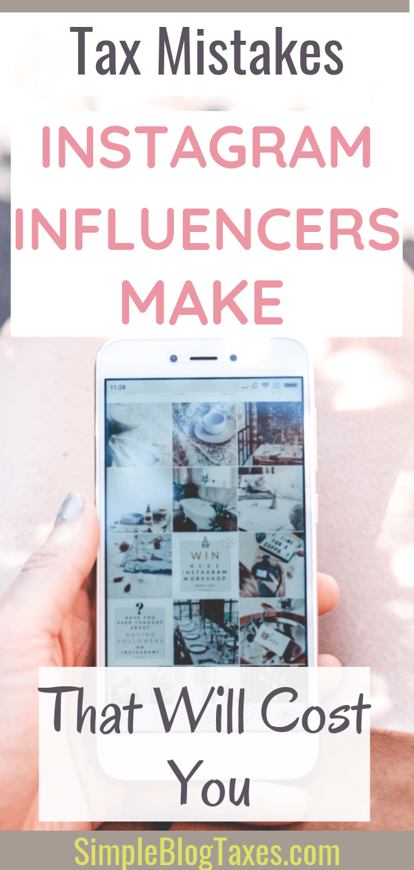 Don't make these big Instagram mistakes! In order to make money on Instagram without trouble you NEED to be paying attention to the business side, aka your taxes. Here are QUICK FIXES to the biggest mistakes Instagrammers make on their taxes. #InstagramTips #MakingMoneyOnInstagram #InfluencerTips #MakingMoneyOnline SimpleBlogTaxes,com