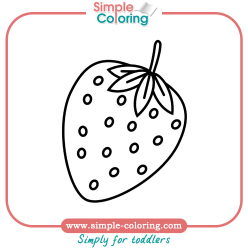 simple coloring fruits simple coloring pages for toddlers