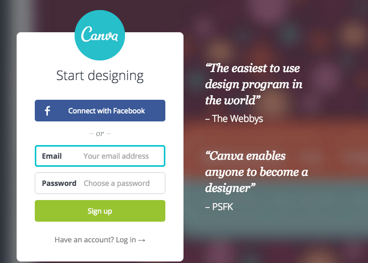 Sign In To Canva