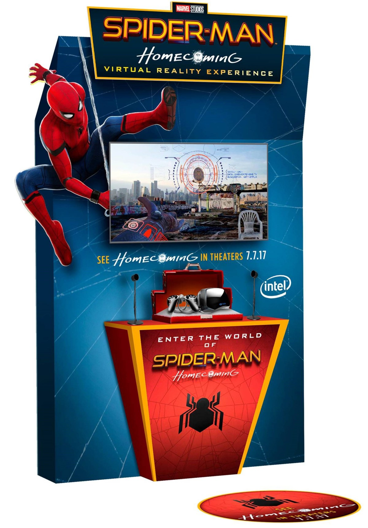 Intel Teams with Sony Pictures Virtual Reality to Create 'Spider-Man: Homecoming' Virtual Reality Experience