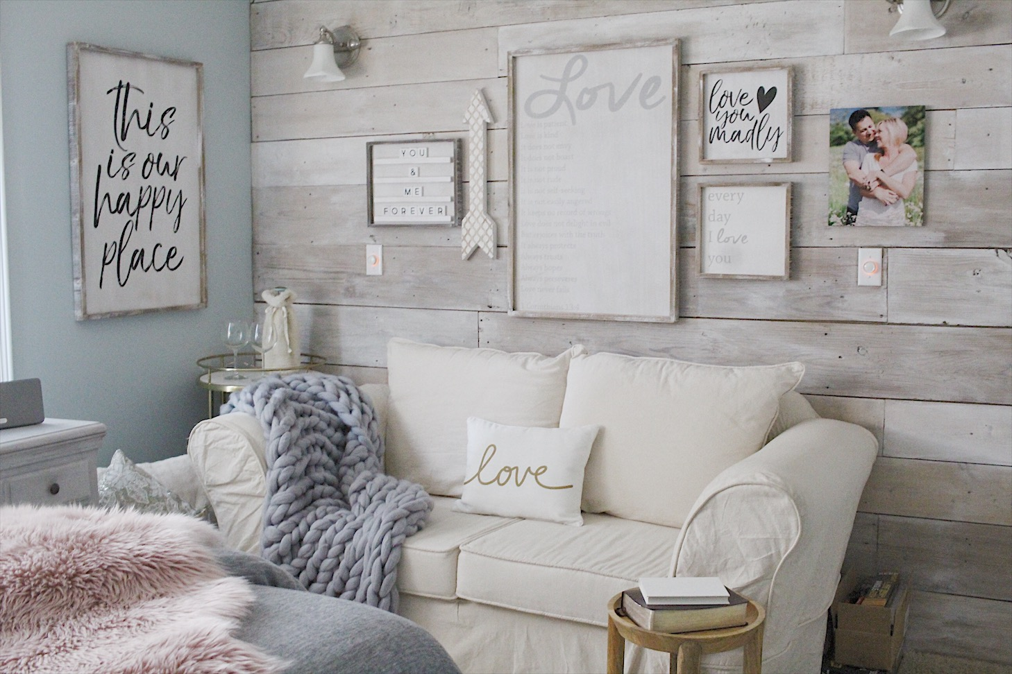 Small Shops To Consider This Spring   Simple Cozy Charm Gallery wall via Krumpet s Home Decor