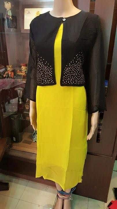 Different Types Of Jacket Style Kurtis Designs Simple
