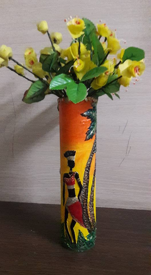 How To Make Flower Pot Made With Waste Pipe And Clay Work