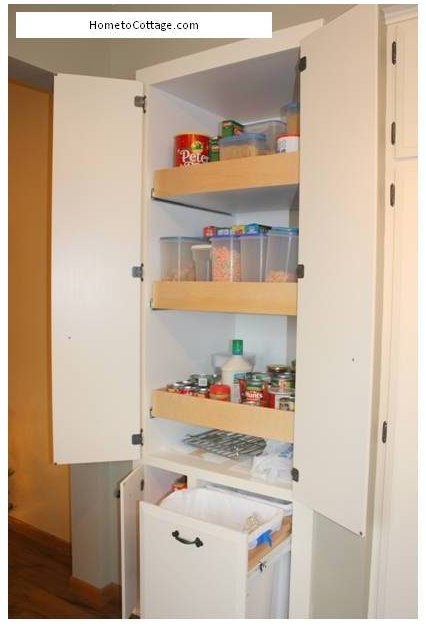 HometoCottage.com Remade kitchen pantry open