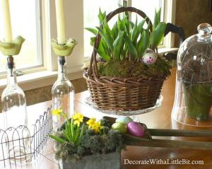 HometoCottage.com Spring and Easter Tablescape