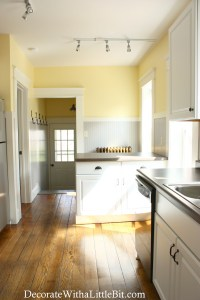 HometoCottage.com track lighting in kitchen