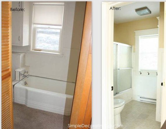 simpledecoratingtips.com little brick cottage bathroom before and after